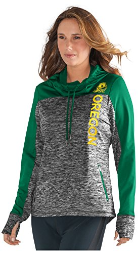 NCAA Oregon Ducks Women's Sideline Pullover Hoody, XX-Large, Grey/Green