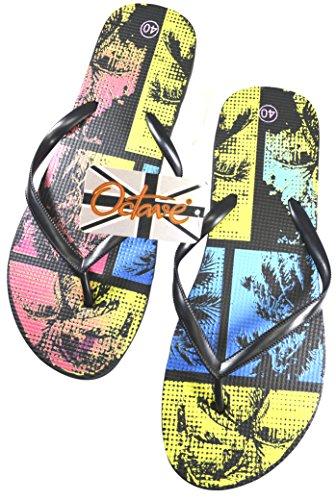 Tropical Wear Nero Summer Octave Colori Ladies Stili E Beach Design Collezione Infradito Vari xqq7wv