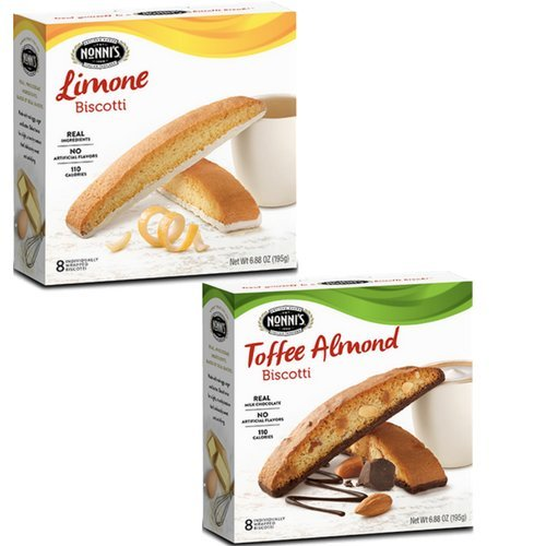 Nonni's Italian Inspired 2 Box Set Toffee Almond and Limone Biscotti! Old School Biscotti! Delicious With A Cup of - Limone Coffee