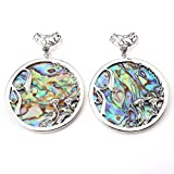 Top Plaza Natural Seashell Abalone Shell Pendant Necklace For Jewelry Making