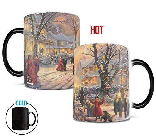 Morphing Mugs Thomas Kinkade A Victorian Christmas Heat Reveal Ceramic Coffee Religion Mug - 11 Ounces