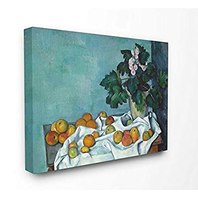 Stupell Industries Still Life with Apples and Flowers Painting Canvas Wall Art, 24 x 30, Multi-Color