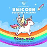 Unicorn Coloring Calendar: Wall Calendar With Special Pack of Magic Unicorns and Horses for Kids and Adults (2021…