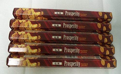 (Prosperity 100 Incense Sticks (5 X 20 Stick Packs): Gr Brand)
