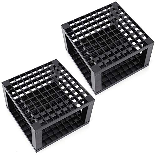 Foraineam 2-Pack 96 Holes Pencil & Brush Holder - Plastic Desk Organizer Stand Holder for Pencils, Pens, Paint Brushes, Modeling Tools, Office & Art Supplies