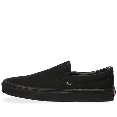 a376c3948660b Vans U Classic Slip On Trainers Black - Black (UK 5)  Amazon.co.uk  Clothing