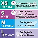 BOS Amazing Odor Sealing Cat Litter Disposal Bags - Durable, Unscented (60 Bags) [Size: L, Color: Light Blue] These are NOT Litter Box