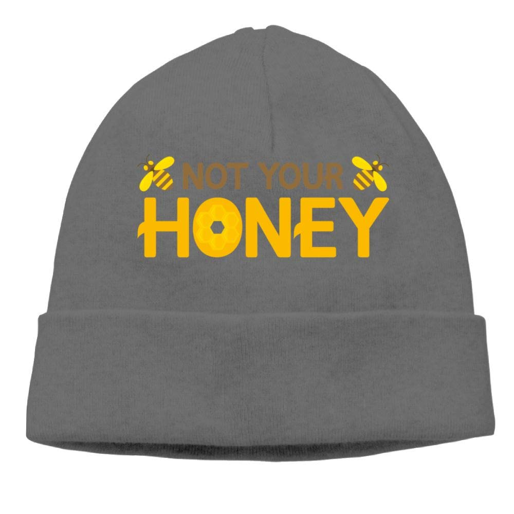 Beanies Hats Not Your Honey Bee Skull Caps for Women Men
