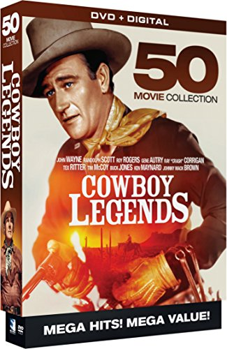 Cowboy Legends - 50 Movie MegaPack - DVD+Digital (Set Box Western)