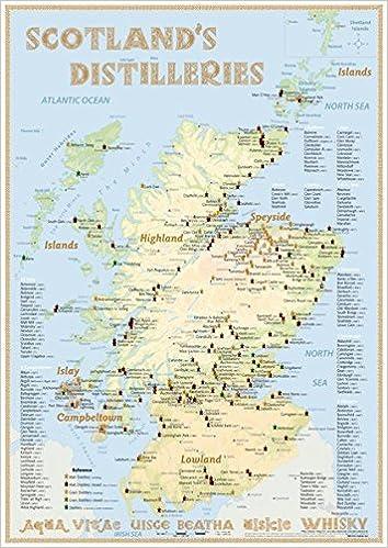 Whisky Distilleries Scotland - Poster 42x59.4cm - Standard ...