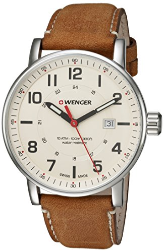 Wenger-Mens-Attitude-Outdoor-Swiss-Quartz-Stainless-Steel-and-Leather-Casual-Watch-ColorBrown-Model-010341109