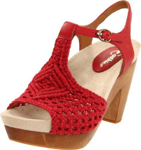 Sandalo Da Uomo Con Cinturino In Pelle Di Amalfi Rosso Vivo