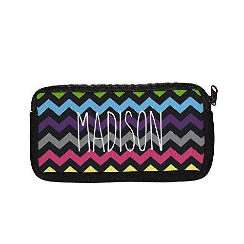 GiftsForYouNow Chevron Personalized Pencil Case, Multicolor Chevron -
