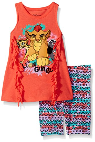 Price comparison product image Disney Toddler Girls' 2 Piece Lion Guard Bike Short Set, Orange, 3t