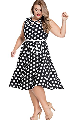 a1cf694c0e Chase Secret Womens Vintage 1950'S Polka Dots Casual Party ...