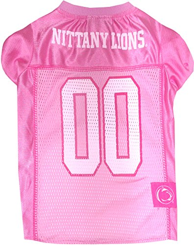 NCAA Penn State Nittany Lions Dog Pink Jersey, Medium. - Pet Pink Outfit.