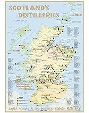 Whisky Distilleries Scotland - Poster 42x60cm Standard Edition: The Scottish Whisky Landscape in Overview: The Whiskylandscape in Overview - Maßstab 1:1.000.000