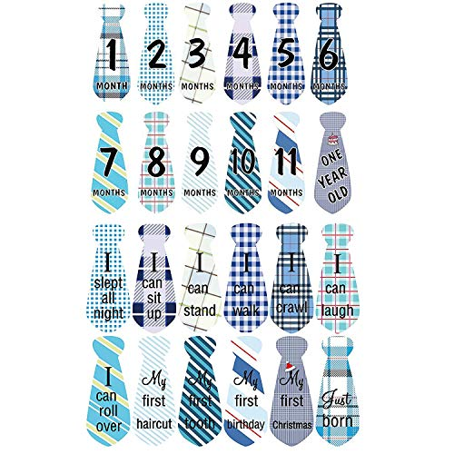 AmazingM Newborn Baby Shower Gifts Set for Boy and Girl,Monthly Baby Milestone Blanket(Sailboat), with Bonus One Floral Wreath,24 pcs Milestone Stickers,37'' by AmzingM (Image #4)