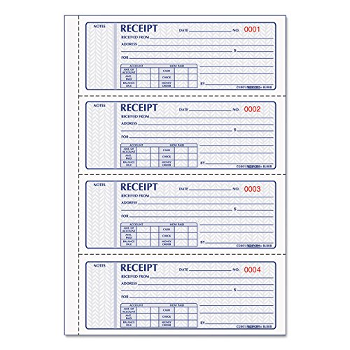 Rediform 8L808R Money Receipt Book 2 3/4 x 7 Carbonless Triplicate 100 Sets ()