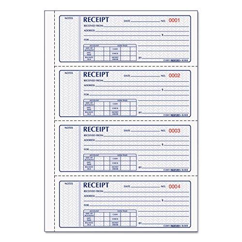 (Rediform 8L808R Money Receipt Book 2 3/4 x 7 Carbonless Triplicate 100 Sets)
