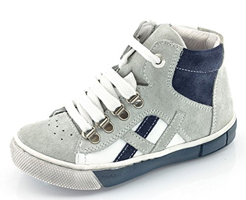 FRODDO Leder High Top Sneaker Halbschuhe grau