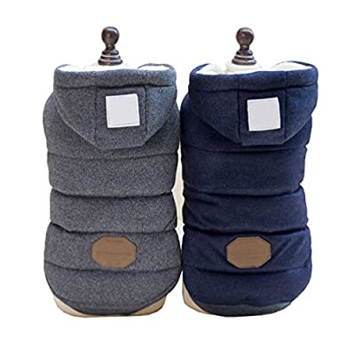 SELMAI Hooded Dog Coat Stylish Small Puppy Dog Clothes (Specially for Toy Breeds, Like Toy Poodle, Mini Pinscher, Shih tzu,Chihuahua, Size Runs Small One to Two Size Than US Size) from SELMAI