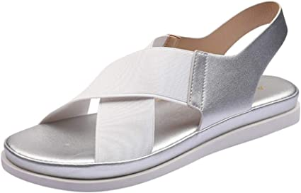 Longzjhd Femmes Sandales Plates De Mode Dames Casual Slip on