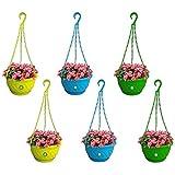 Trust Basket Hanging Basket with Bottom Saucer (Multicolour)