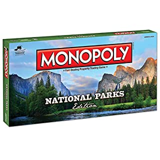 Monopoly National Parks Edition Board Game | Themed National Park Game | Buy, Sell & Trade Iconic Parks Like Yellowstone & The Grand Canyon |Themed Game