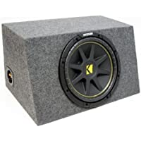 ASC Package Single 10 Kicker Sub Box Sealed Hatch Subwoofer Enclosure C10 Comp 300 Watts Peak