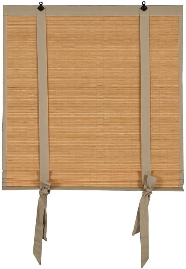 Blackout Roller Blind/Bamboo Venetian Blin/Paquete Side Satin Ribbon Original Bamboo Color Curtain Sombrillas/Personalización del Soporte Casa de té, Salón de té, Restaurante, Tienda de Sushi pa: Amazon.es: Hogar