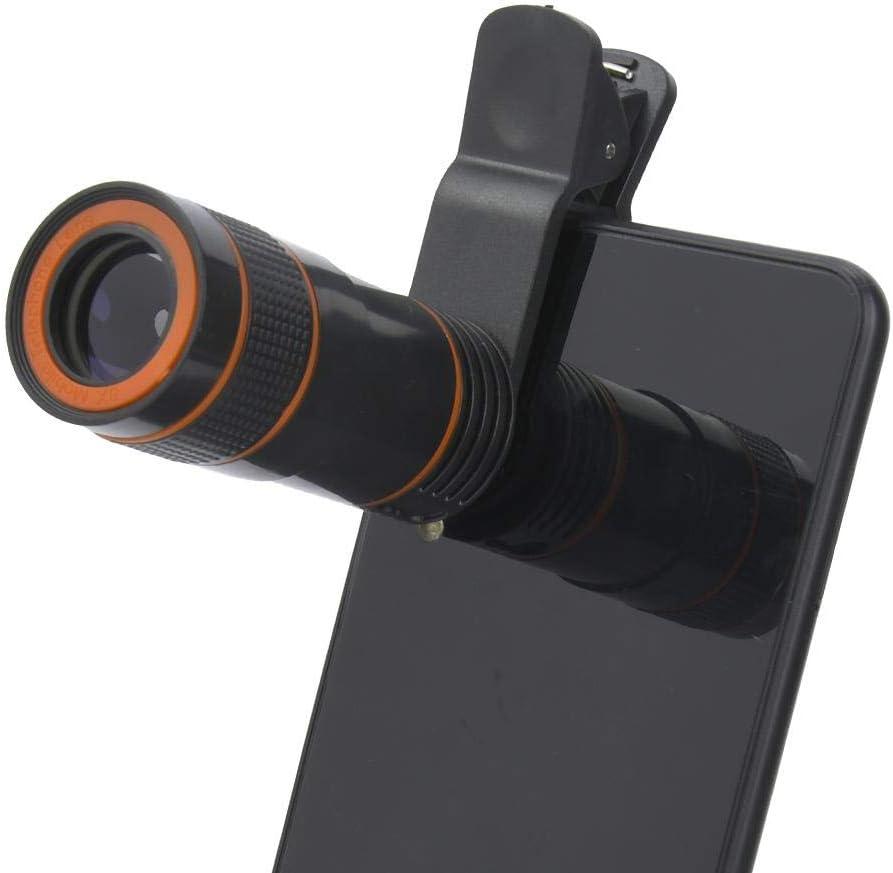 Oumij Telescope Lens,8 Times Plastic Universal Telescope Lens Portable Monocular For Mobile Phone