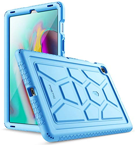 Galaxy Tab S5E Case, Poetic Heavy Duty Shockproof Kids Friendly Silicone Case Cover, TurtleSkin Series, for Samsung Galaxy Tab S5E 10.5 Inch (SM-T720/T725) 2019 Release, Blue (Samsung Galaxy Tablet Gel Case)