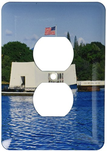3dRose lsp_89547_6 Wwii Arizona Memorial, Pearl Harbor, Hawaii, Us12 Dpb0116 Douglas Peebles 2 Plug Outlet Cover by 3dRose