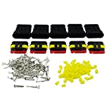 E-TING 5 Kit Set Car Waterproof Electrical Wire Connector Plug 5 Pin Way Terminals HID