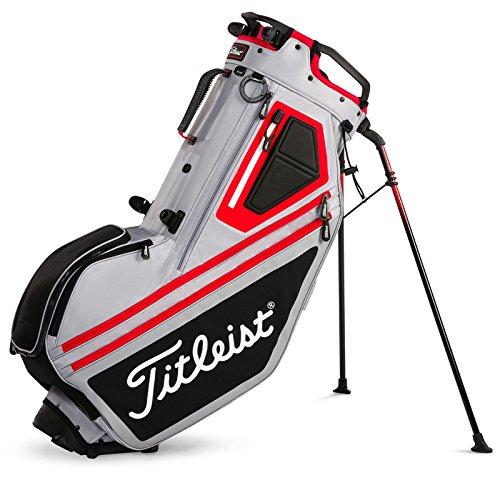 - Titleist Golf Bag Stand Players 14 2018 TB7SX14, Convertible Strap System, Premium Lightweight (Sleet/Black/Red)