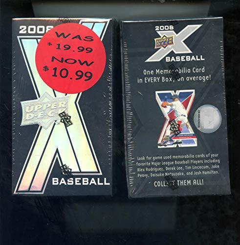 2008 Upper Deck X Baseball Card Set Wax Pack Box FACTORY SEALED