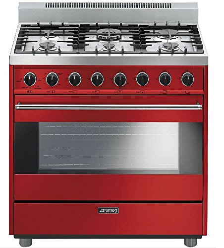 "Smeg C36GGRU 36"" Free Standing Gas Range with 6 Gas Burne..."