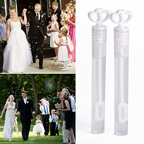 Diy 20's Flapper Costume (24 XWhite Heart Wedding Favours Decoration Bubble Tubes Liquid Blower Bulk Party)