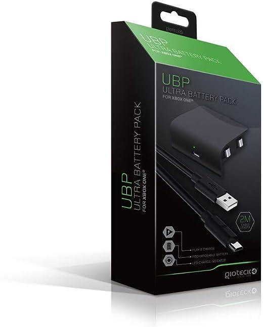 Gioteck - Gioteck - Pack de bateria Gioteck para mandos Xbox One de 800 mAh con cable carga y juega USB de 2m (Xbox One) (Xbox One): Amazon.es: Videojuegos