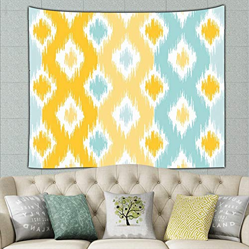 zuo chunhong5 Geometric Based on Ikat Abstract Ikat Abstract Ikat Tapestry Bohemian Tapestry Hippie Tapestry Bedroom Living Room Dorm Art Wall Hanging 50ʺ × 60ʺ