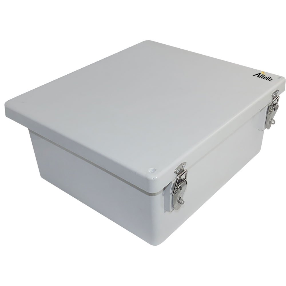 Altelix 14x12x6 NEMA 4x FRP Fiberglass Weatherproof Enclosure with Aluminum Equipment Mounting Plate, Hinged Lid & Stainless Steel Latches by Altelix (Image #3)