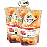 Sunny Fruit Organic Apricots, Soft & Succulent Dried Turkish Apricots- 2Packs
