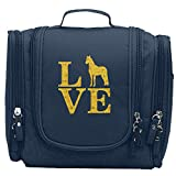 Travel Toiletry Bags Love Horse Washable Bathroom Storage Hanging Cosmetic/Grooming Bag For Household Business Vacation, Multi Compartments, Waterproof Lining
