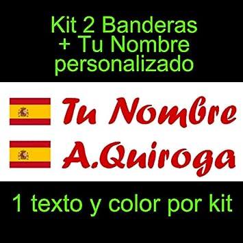 Pala De Padel etc Vinilin Kit de Dos Vinilos Bici Monopatin Coche Verde Pegatina Vinilo Bandera Cantabria tu Nombre Casco