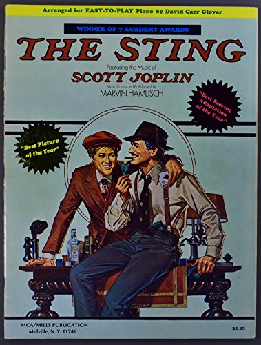 (The Sting Featuring the music of Scott Joplin Easy Play Piano 23 pages)