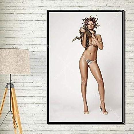 Ami0707 Art Decor Rihanna Popmusik S/ängerin Superstar Hip Hop Wandkunst Leinwand Malerei Poster Home Decoration50x70cm NO Frame