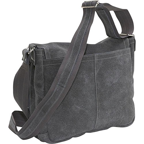 David King Distressed North South Leather Messenger Bag in Distressed Cafe