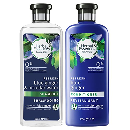 Herbal Essences Bio Renew Micellar Water & Blue Ginger Shampoo and Conditioner Set (Pack of 4)