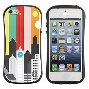 "Hypernova Slim Fit Dual Barniz Protector Caso Case Funda Para Apple iPhone SE / iPhone 5 / iPhone 5S [Artísticas minimalista Arquitectura Colores""]"